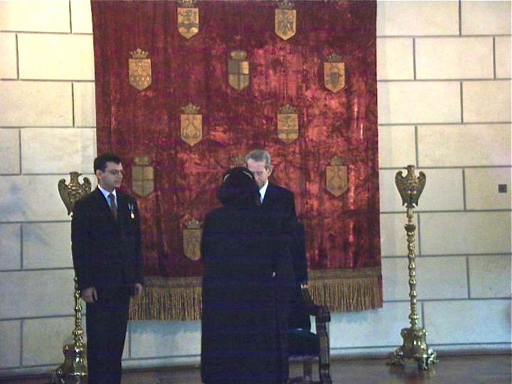 Investiture with King Mihail in the Elisabeta Palace Bucharest