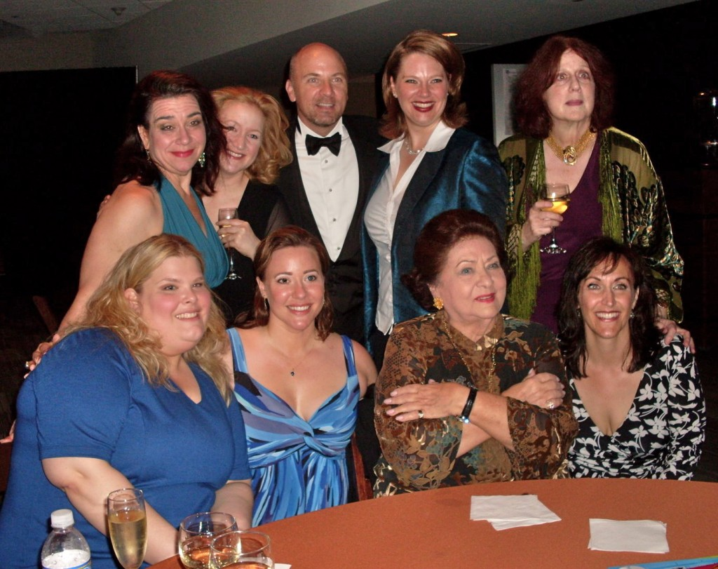 With Sheila Nadler and cast of The Carmelites AUstin Texas 2009