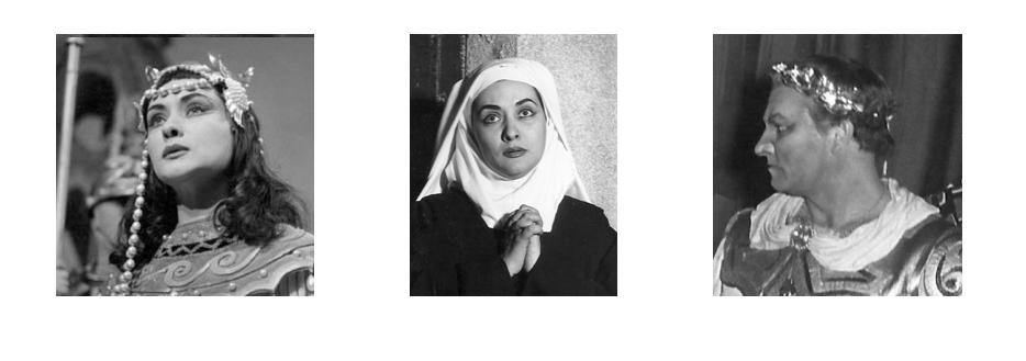Cleopatra, Sister Blanche and Nicola Rossi Lemeni, Giulio Cesare