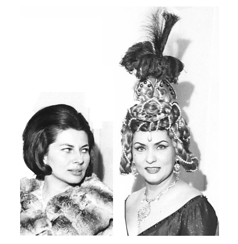 Giulietta in TheTales of Hoffmann with Queen Soraya of Persia