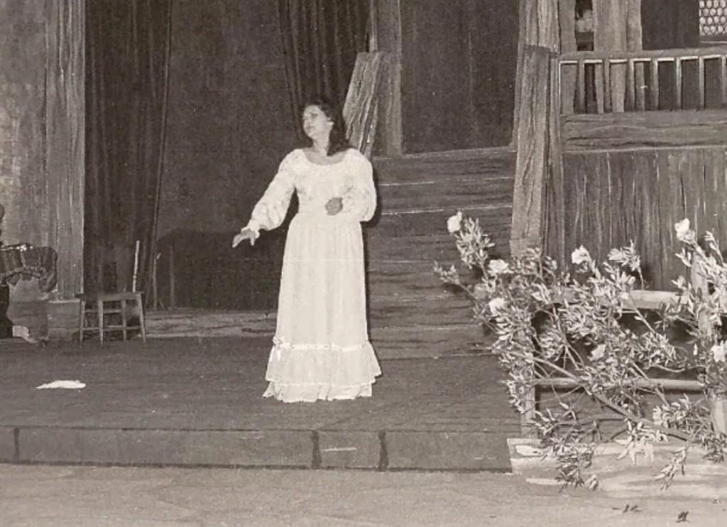 Zeani as Amina in La Sonnambula, the sleepwalking scene