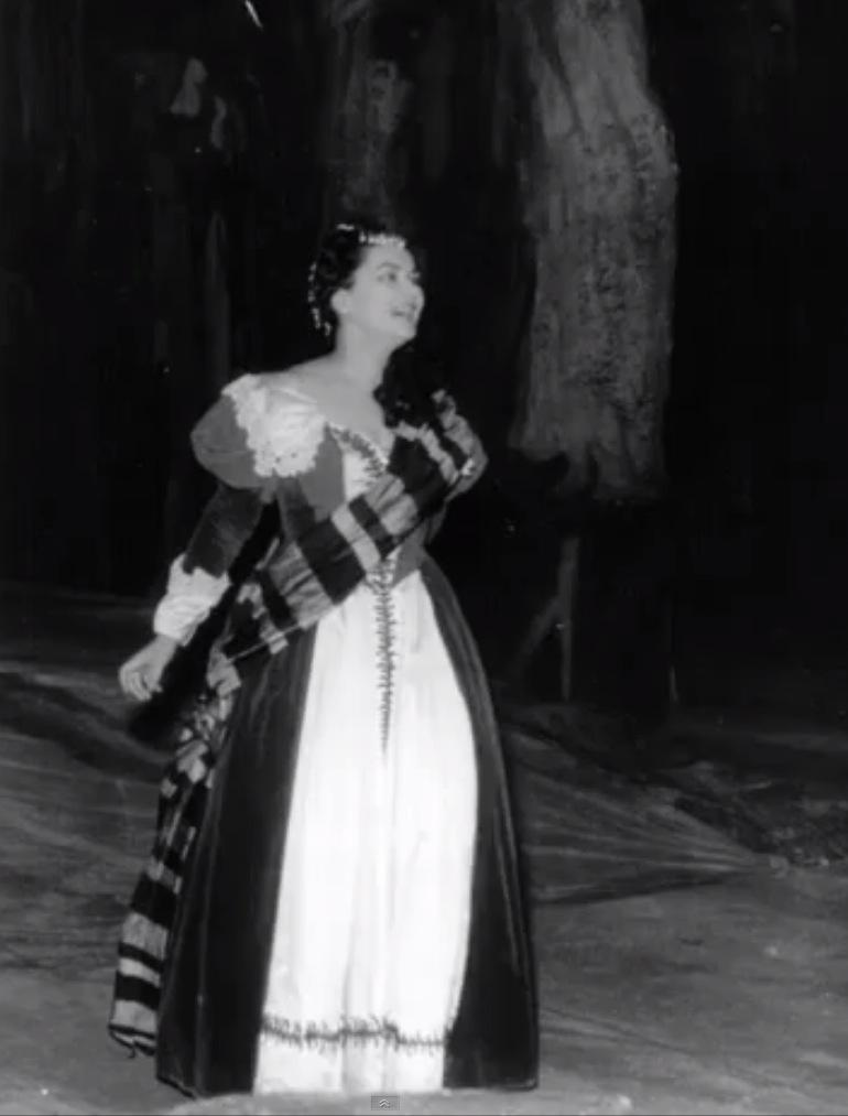 Zeani as Lucia di Lammermoor