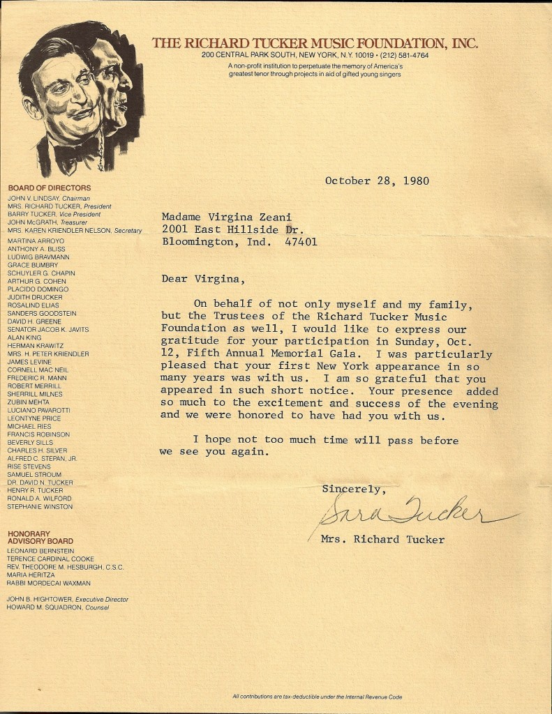 Richard Tucker letter